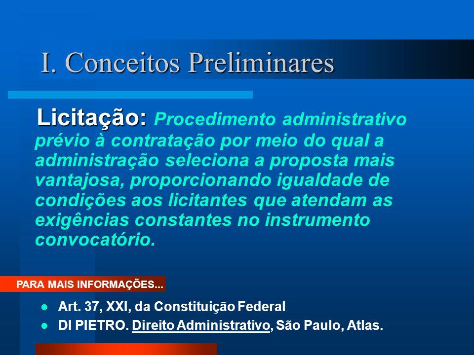 I.Conceitos Preliminares Princípios: 1. Isonomia 2.