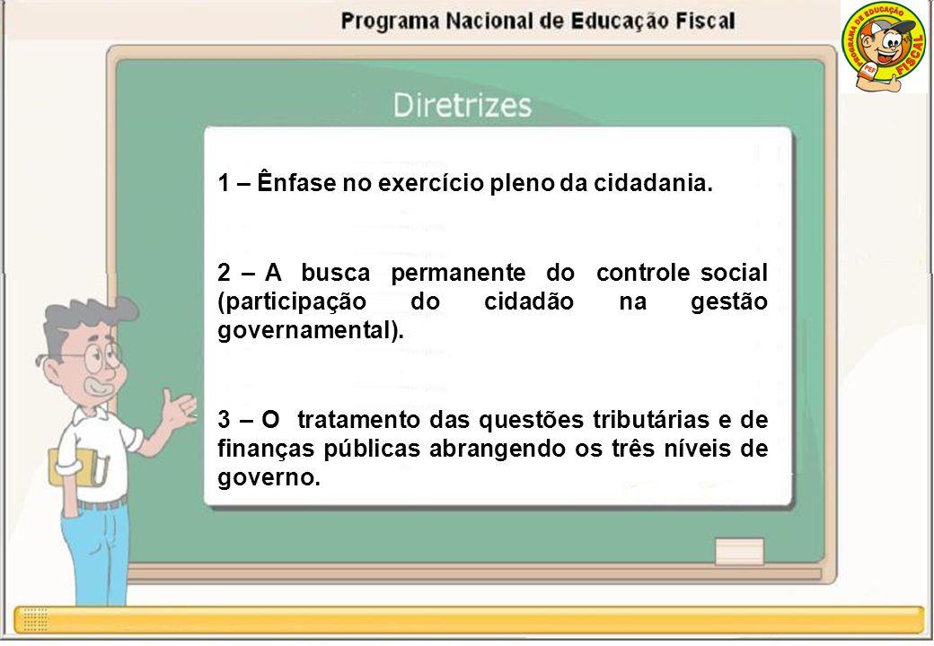 1 – Ênfase no exercício pleno da cidadania.