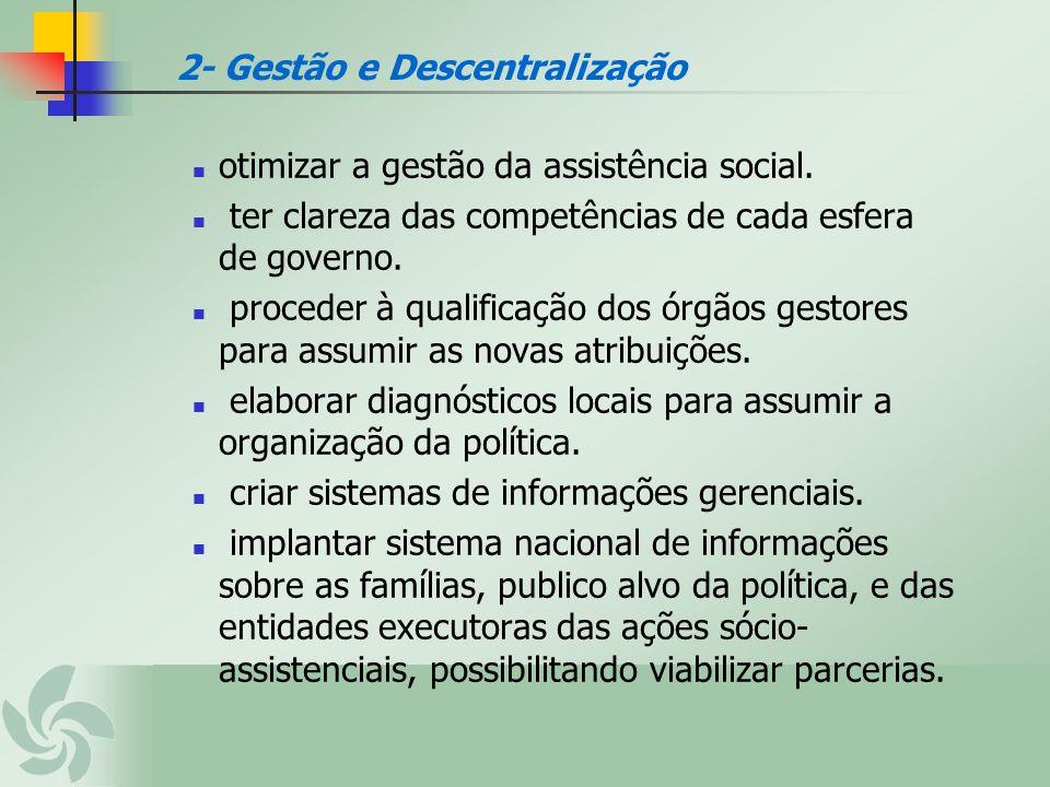otimizar a gestão da assistência social. ter clareza das competências de cada esfera de governo. proceder à qualificação dos órgãos gestores para assu
