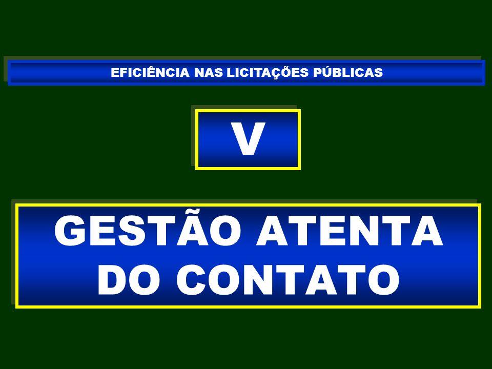 GESTÃO ATENTA DO CONTATO V V EFICIÊNCIA NAS LICITAÇÕES PÚBLICAS