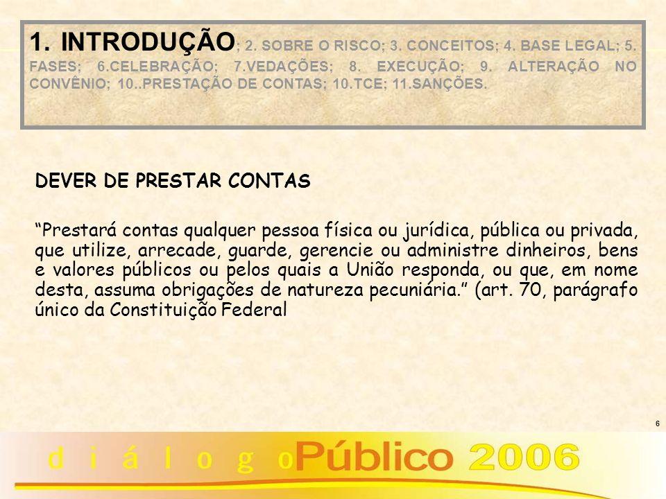 17 PROPOSIÇÃO CELEBRAÇÃO EXECUÇÃO PRESTAÇÃO DE CONTAS 1.