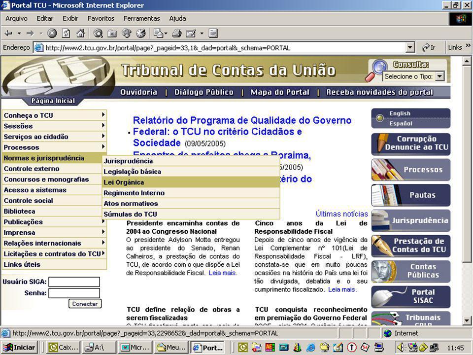 Obrigada pela Atenção Sandra Elisabete Alves dos Santos sandraea@tcu.gov.br