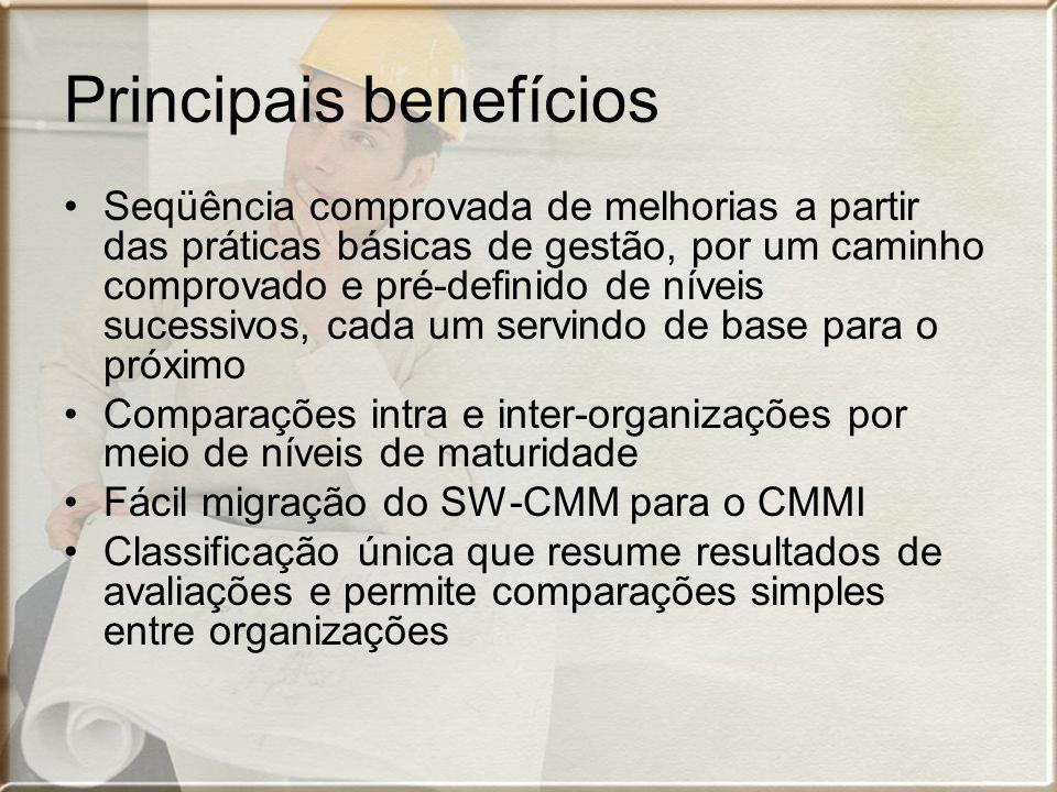 Principais benefícios Seqüência comprovada de melhorias a partir das práticas básicas de gestão, por um caminho comprovado e pré-definido de níveis su