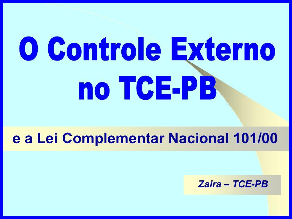 Zaira – TCE-PB e a Lei Complementar Nacional 101/00
