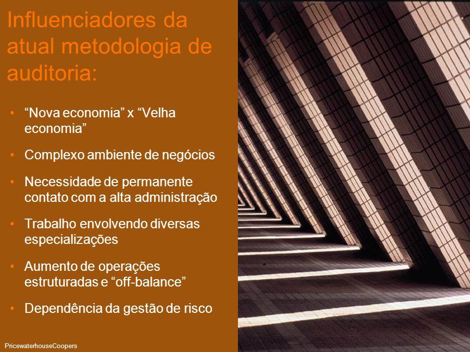 Auditoria PwC PricewaterhouseCoopers Página 10 Influenciadores da atual metodologia de auditoria: Nova economia x Velha economia Complexo ambiente de