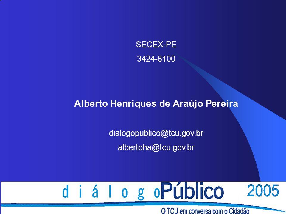 SECEX-PE 3424-8100 Alberto Henriques de Araújo Pereira dialogopublico@tcu.gov.br albertoha@tcu.gov.br