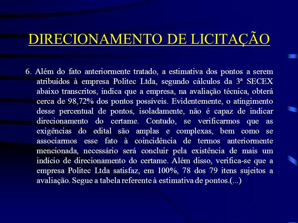 DIRECIONAMENTO DE LICITAÇÃO 6.