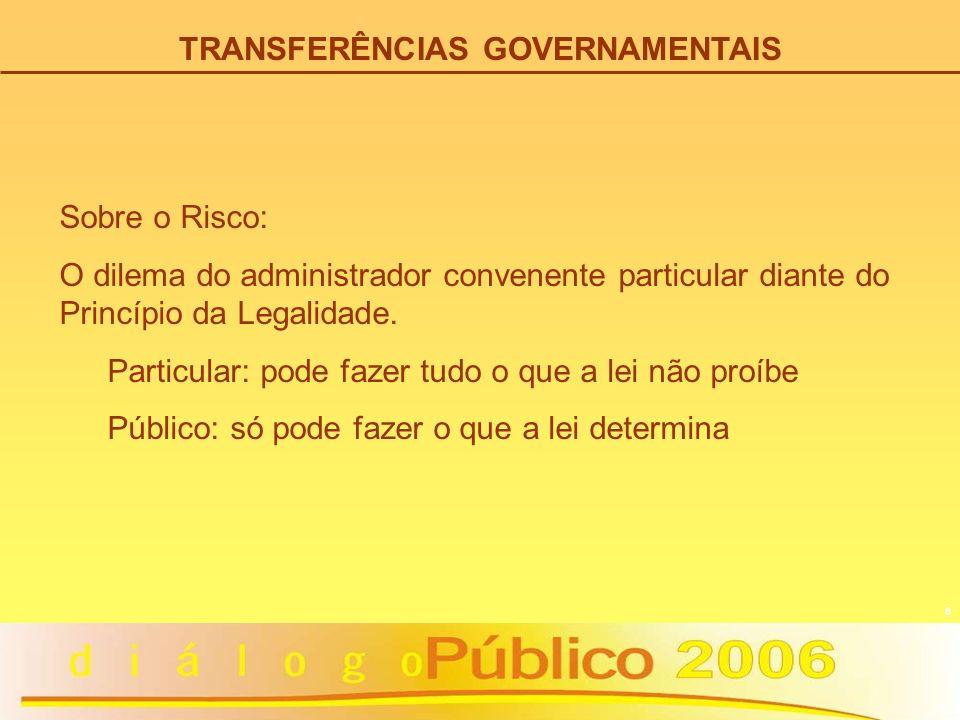 19 TRANSFERÊNCIAS GOVERNAMENTAIS PRESTAÇÃO DE CONTAS – Art.