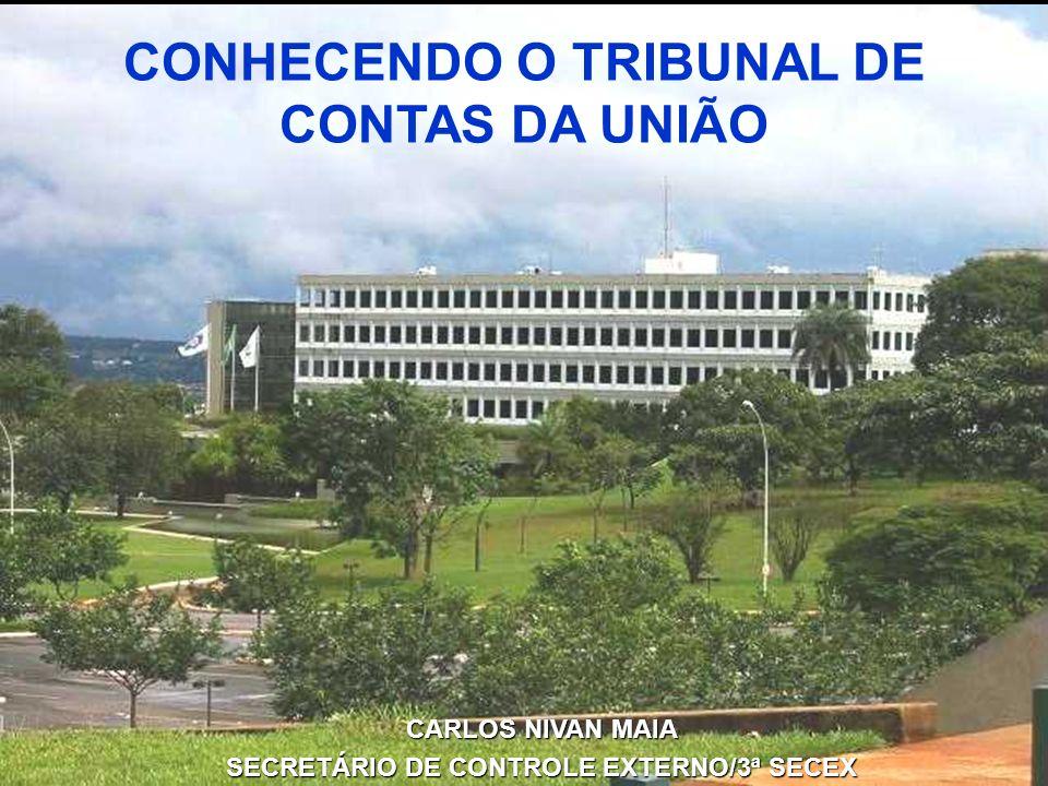 CONHECENDO O TRIBUNAL DE CONTAS DA UNIÃO CARLOS NIVAN MAIA SECRETÁRIO DE CONTROLE EXTERNO/3ª SECEX