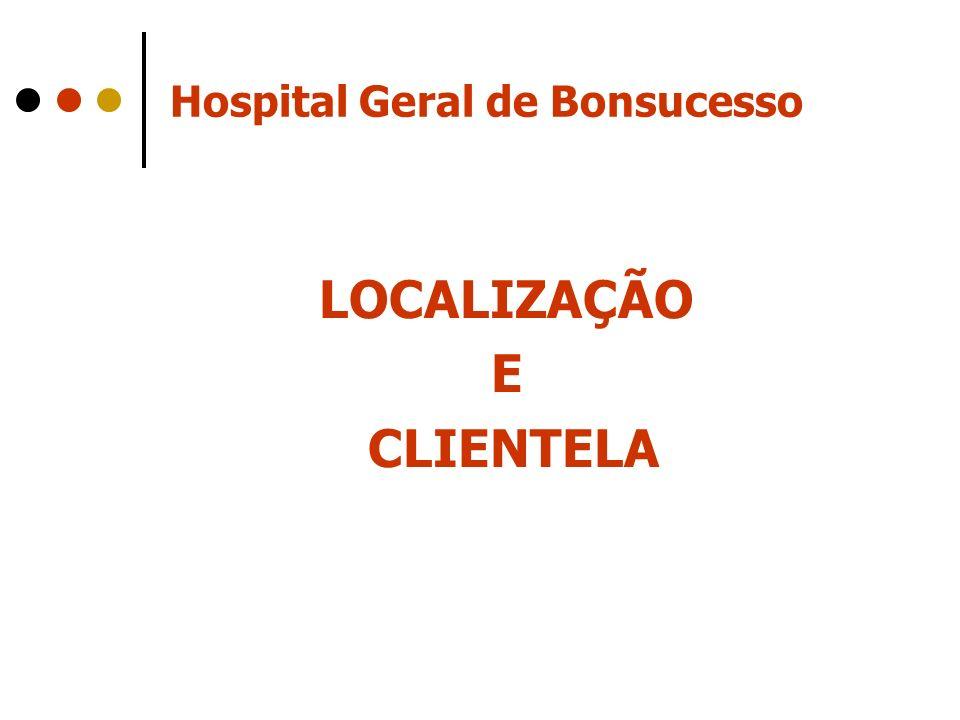 Hospital Geral de Bonsucesso LOCALIZAÇÃO E CLIENTELA