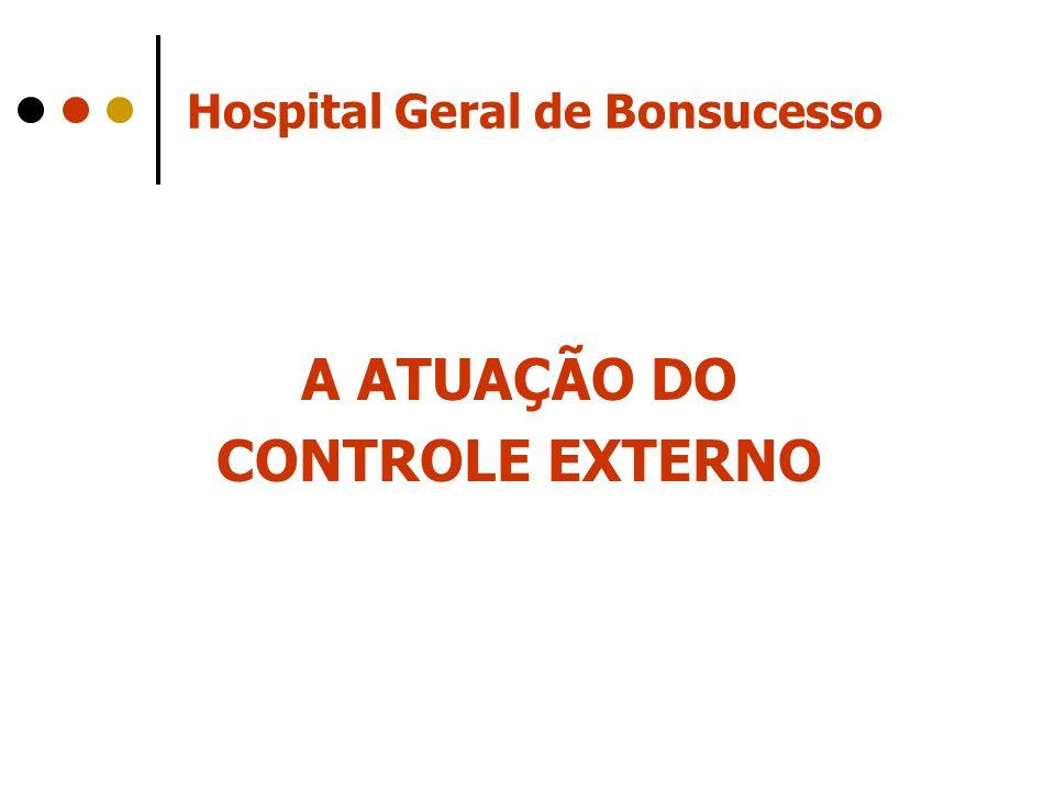 Hospital Geral de Bonsucesso A ATUAÇÃO DO CONTROLE EXTERNO