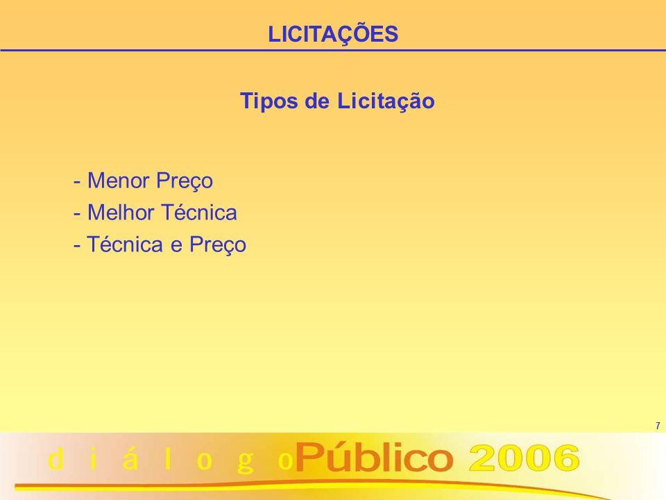7 Tipos de Licitação - Menor Preço - Melhor Técnica - Técnica e Preço LICITAÇÕES
