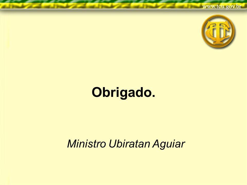 Obrigado. Ministro Ubiratan Aguiar