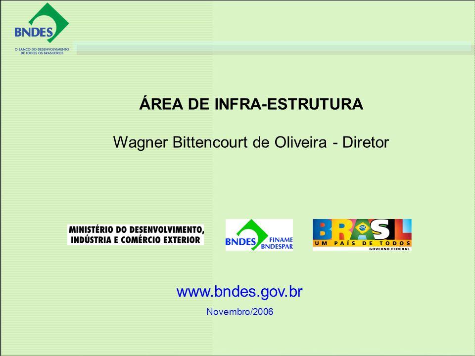 www.bndes.gov.br Novembro/2006 ÁREA DE INFRA-ESTRUTURA Wagner Bittencourt de Oliveira - Diretor