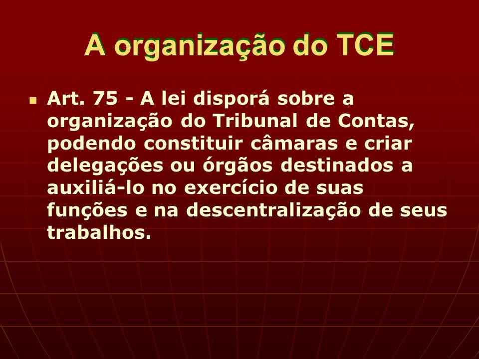 A organização do TCE Art.