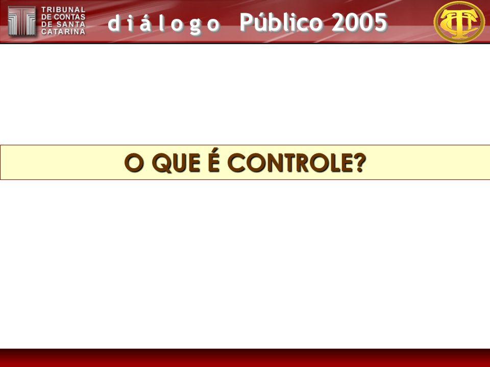 d i á l o g o Público 2005 TOMA COMO BASE A FIDEDIGNIDADE DO CONTROLE INTERNO.