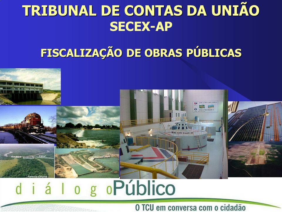 TRIBUNAL DE CONTAS DA UNIÃO SECEX-AP FISCALIZAÇÃO DE OBRAS PÚBLICAS