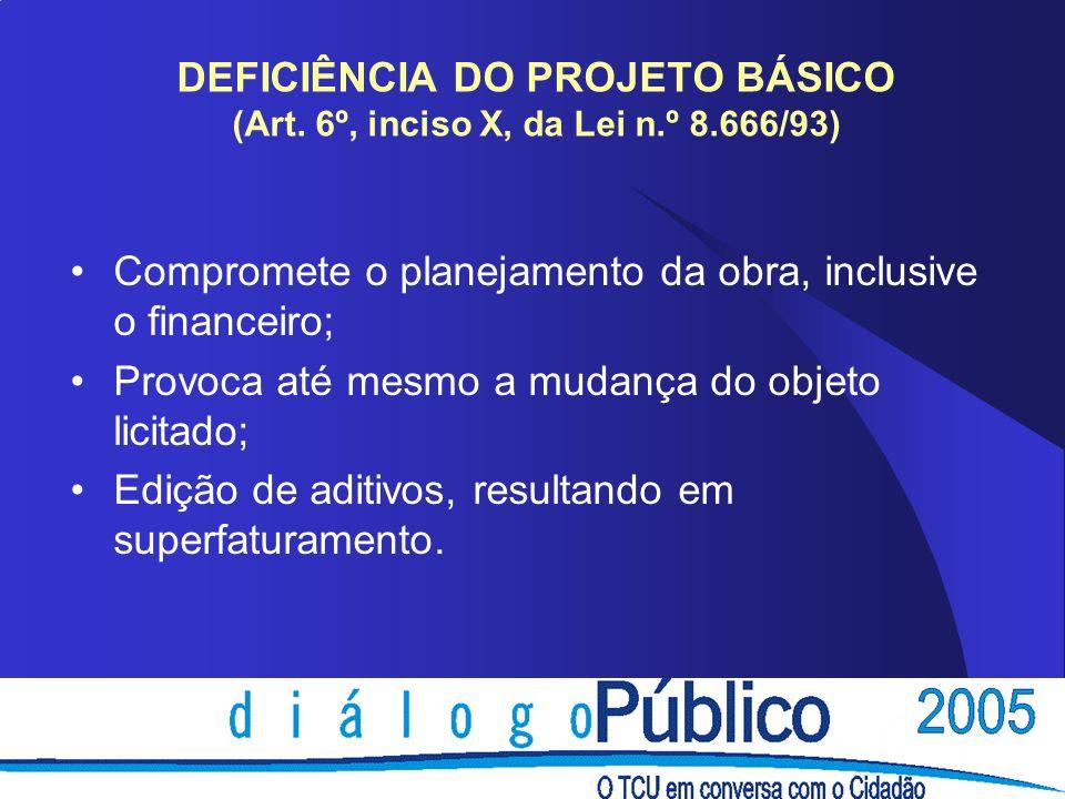 DEFICIÊNCIA DO PROJETO BÁSICO (Art.
