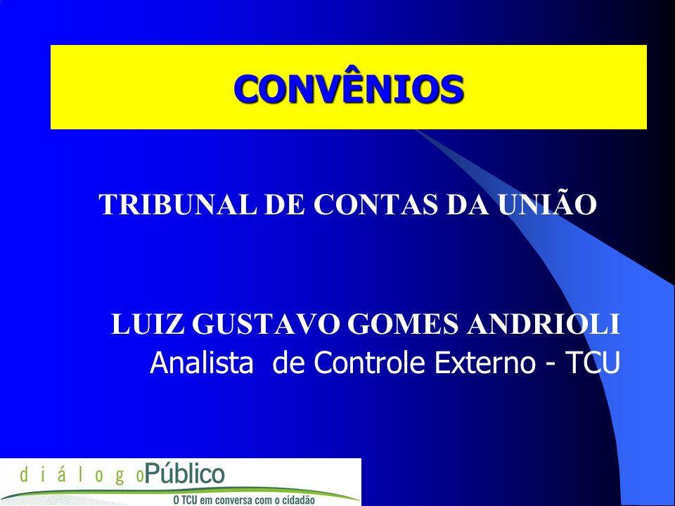 TCU-SECEX/PR TCU-SECEX/PR site: www.tcu.gov.br jurisprudência publicações: Convênios e Outros Repasses (41) 362-8282 e-mail:luizl@tcu.gov.br