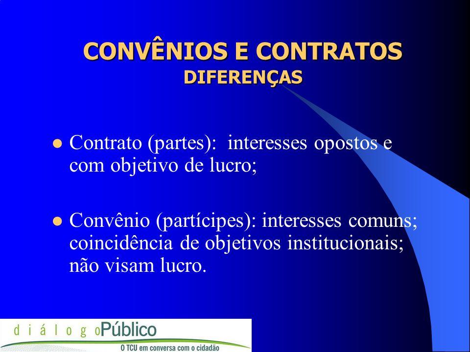 Por que é importante determinar se um ajuste tem natureza contratual ou de convênio.