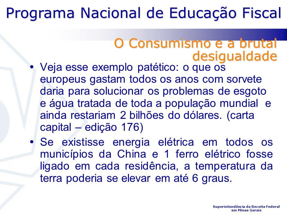 Programa Nacional de Educação Fiscal Superintendência da Receita Federal em Minas Gerais Veja esse exemplo patético: o que os europeus gastam todos os