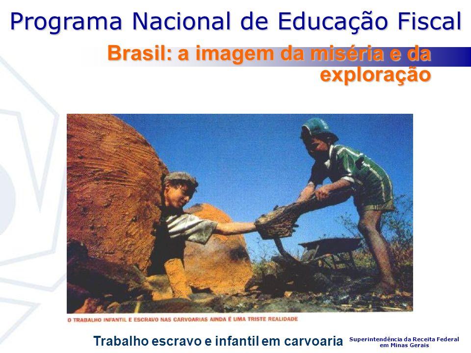 Programa Nacional de Educação Fiscal Superintendência da Receita Federal em Minas Gerais Brasil: a imagem da miséria e da exploração Trabalho escravo e infantil em carvoaria