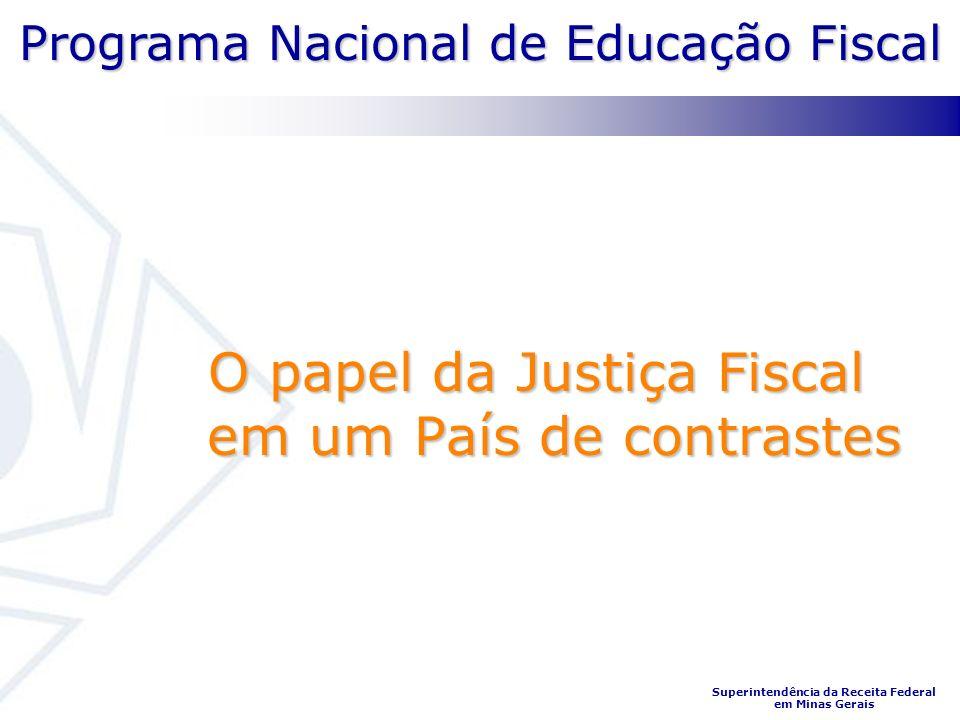Programa Nacional de Educação Fiscal Superintendência da Receita Federal em Minas Gerais O papel da Justiça Fiscal em um País de contrastes