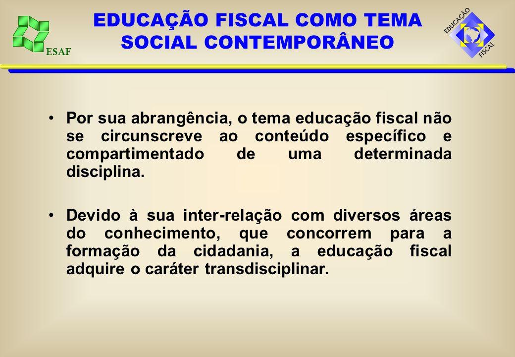 ESAF A escola, como espaço de construção de conhecimento e reflexão crítica sobre a realidade na qual se está inserido, tem um papel fundamental na im