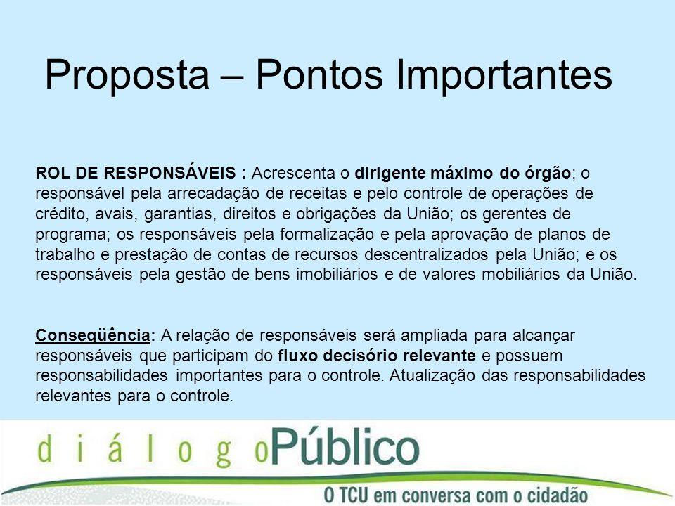 ROL DE RESPONSÁVEIS : Acrescenta o dirigente máximo do órgão; o responsável pela arrecadação de receitas e pelo controle de operações de crédito, avai