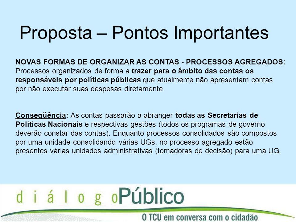 NOVAS FORMAS DE ORGANIZAR AS CONTAS - PROCESSOS AGREGADOS: Processos organizados de forma a trazer para o âmbito das contas os responsáveis por políti