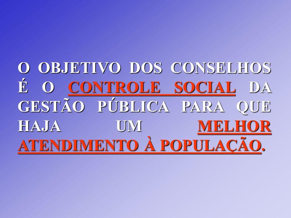 Os Conselhos existem nas três esferas de Governo: Esfera Federal: Temos Conselhos Setoriais das Políticas Públicas (Saúde, Educação, Assistência Social, entre outras) e Conselhos de Direitos com seus respectivos Fundos implementados.