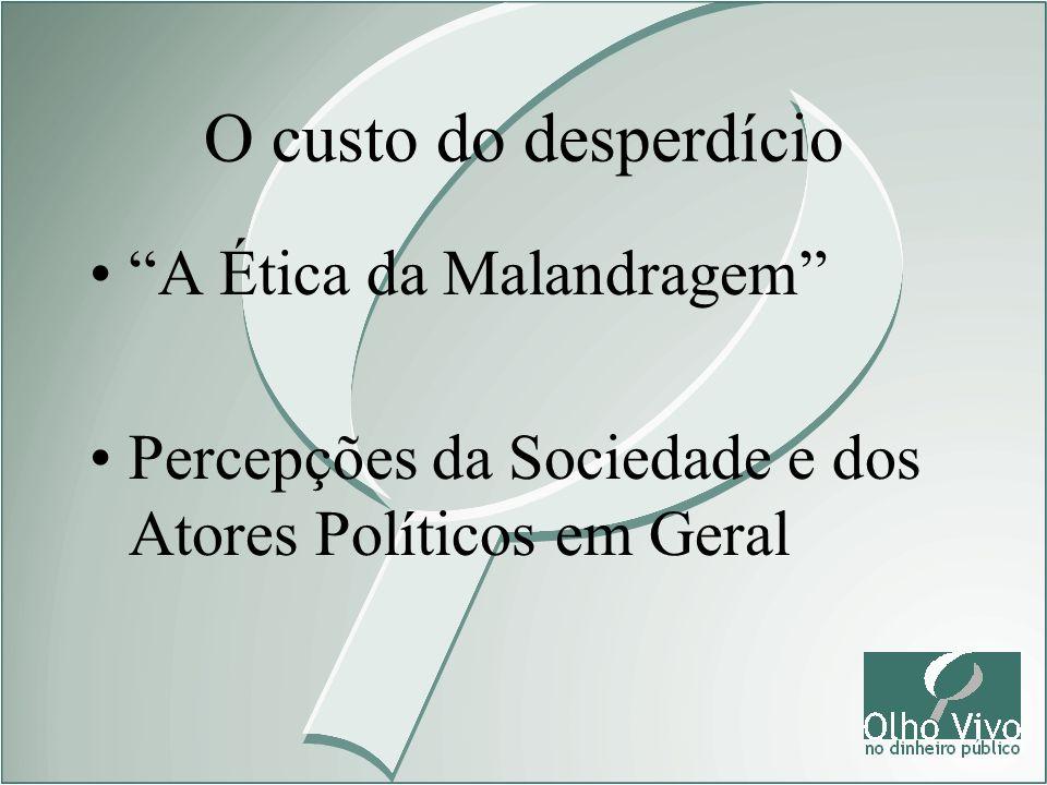 A Ética da Malandragem Percepções da Sociedade e dos Atores Políticos em Geral