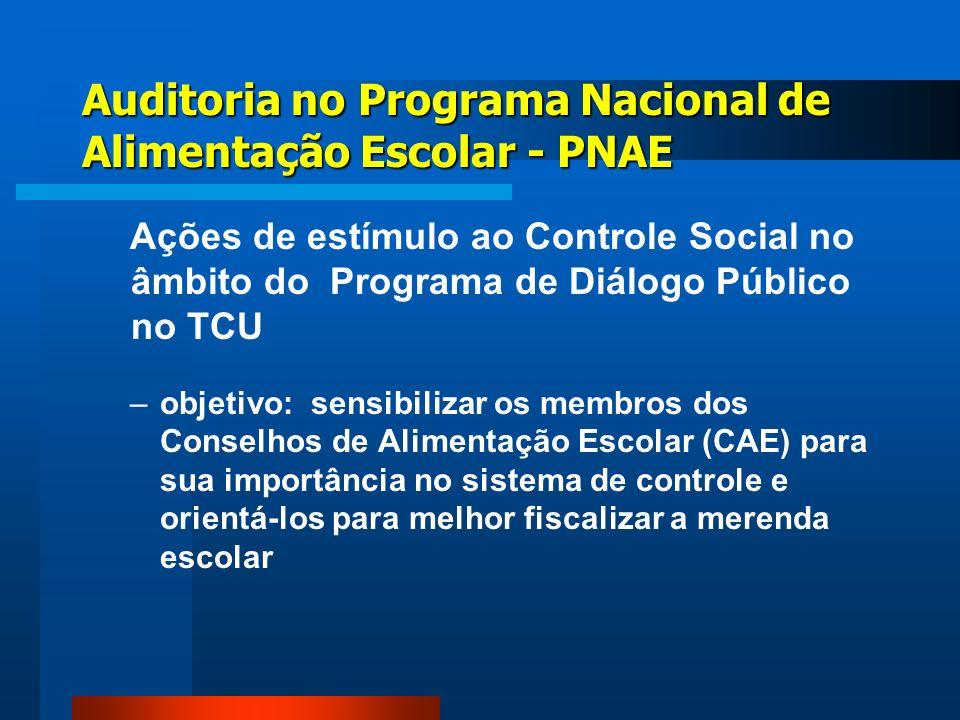 –objetivo: sensibilizar os membros dos Conselhos de Alimentação Escolar (CAE) para sua importância no sistema de controle e orientá-los para melhor fi