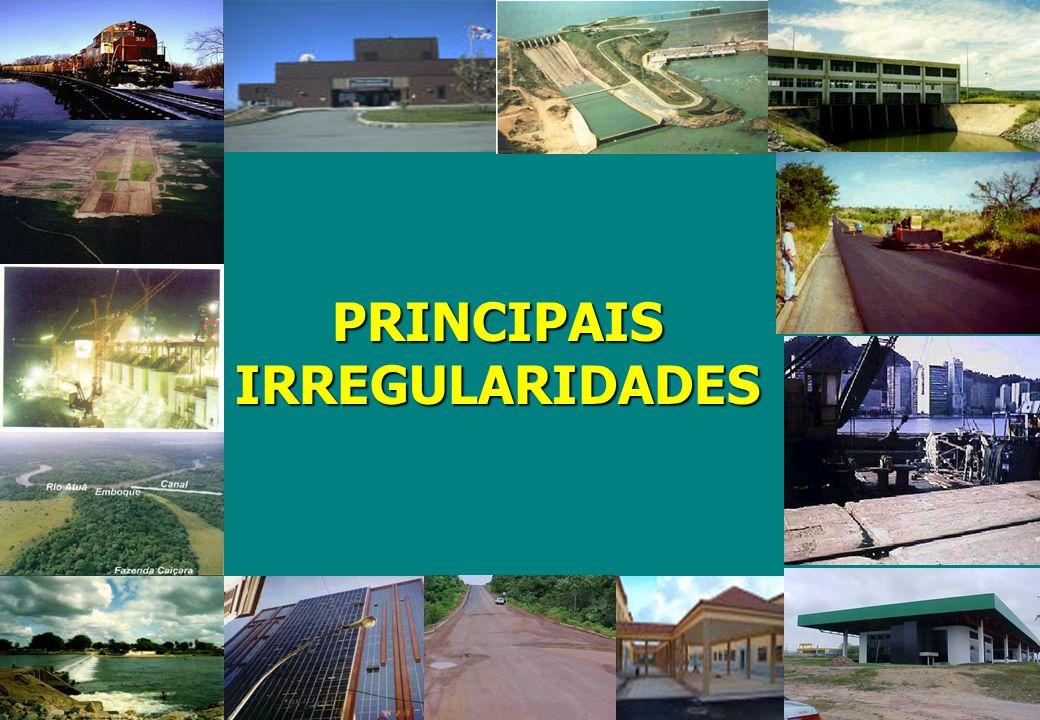 PRINCIPAIS IRREGULARIDADES PRINCIPAIS IRREGULARIDADES