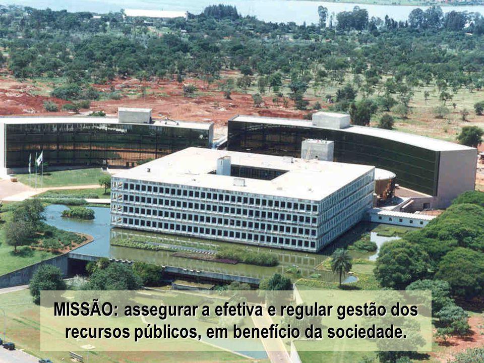 www.tcu.gov.br 2 MISSÃO: assegurar a efetiva e regular gestão dos recursos públicos, em benefício da sociedade.