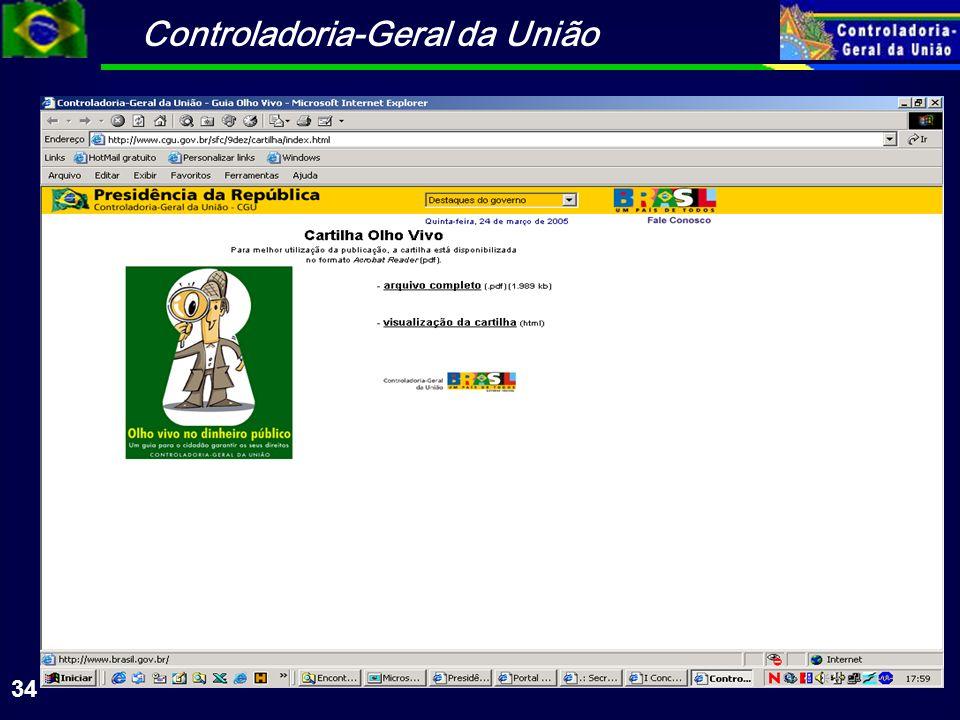 Controladoria-Geral da União 34