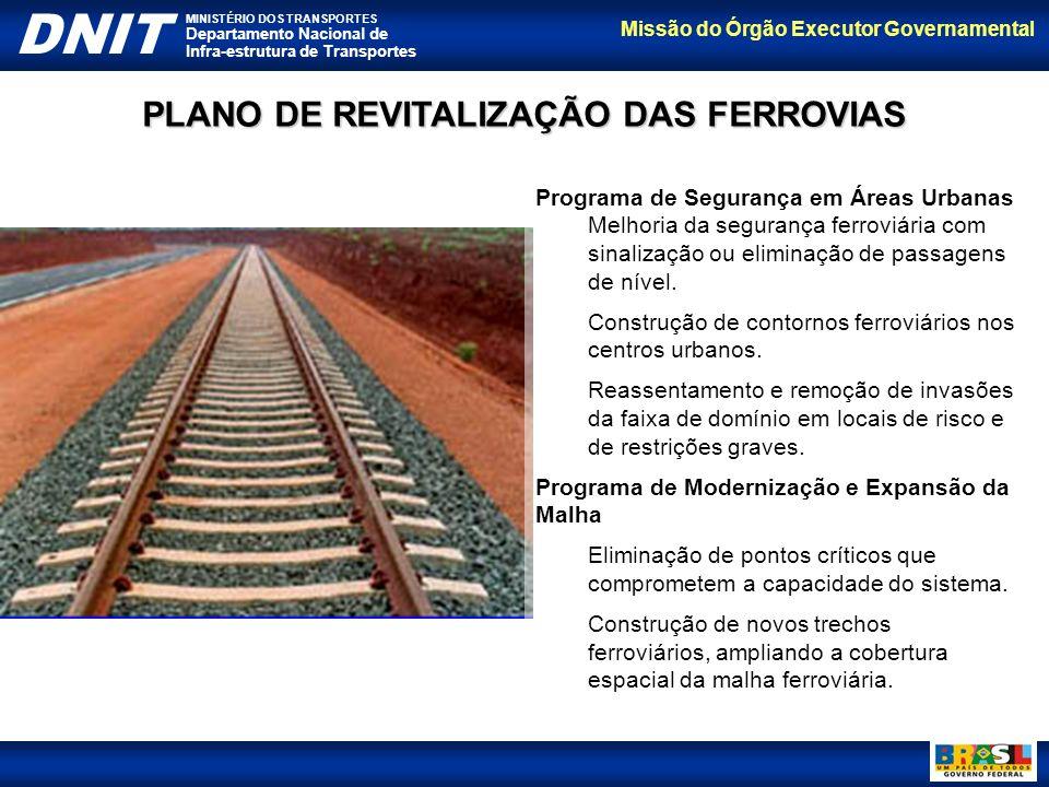 Missão do Órgão Executor Governamental DNIT MINISTÉRIO DOS TRANSPORTES Departamento Nacional de Infra-estrutura de Transportes Programa de Segurança e