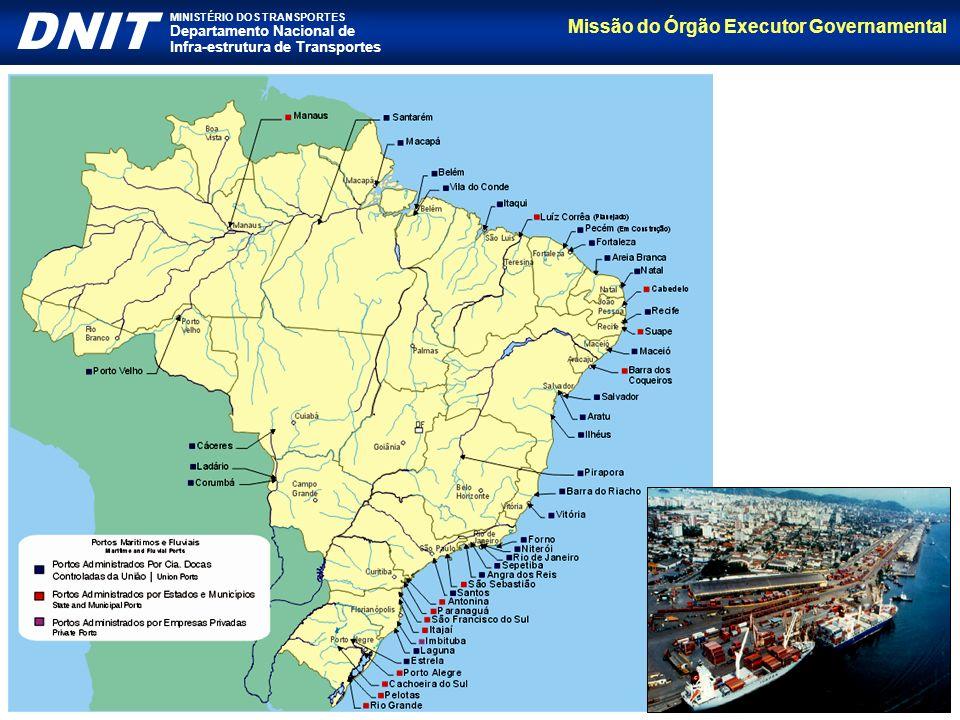 Missão do Órgão Executor Governamental DNIT MINISTÉRIO DOS TRANSPORTES Departamento Nacional de Infra-estrutura de Transportes