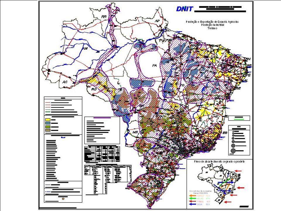 Missão do Órgão Executor Governamental DNIT MINISTÉRIO DOS TRANSPORTES Departamento Nacional de Infra-estrutura de Transportes MODAL FERROVIÁRIO (Missão institucional) Mapa Malha Ferroviária atual = 27.000,0 km Malha Ferroviária Planejada = 6.235,0 km 12 Empresas Ferroviárias (Concessão) 15 Empresas Ferroviárias Urbanas Principais em execucão: Ferrovia Norte-sul Transnordesntina