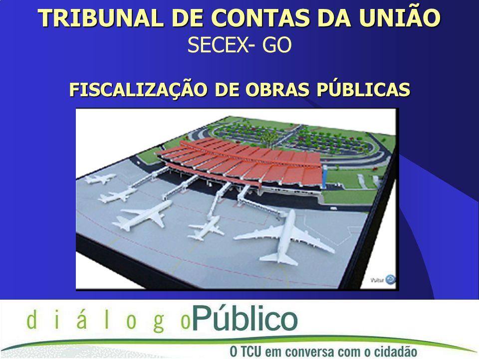 TRIBUNAL DE CONTAS DA UNIÃO SECEX- GO FISCALIZAÇÃO DE OBRAS PÚBLICAS