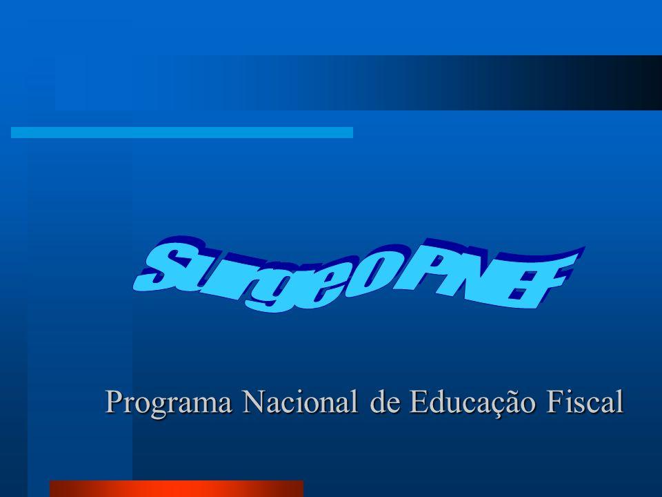 Programa Nacional de Educação Fiscal Programa Nacional de Educação Fiscal