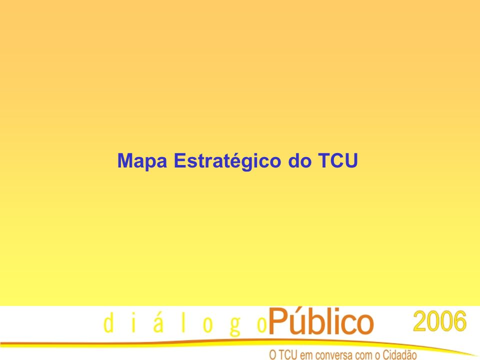 Mapa Estratégico do TCU