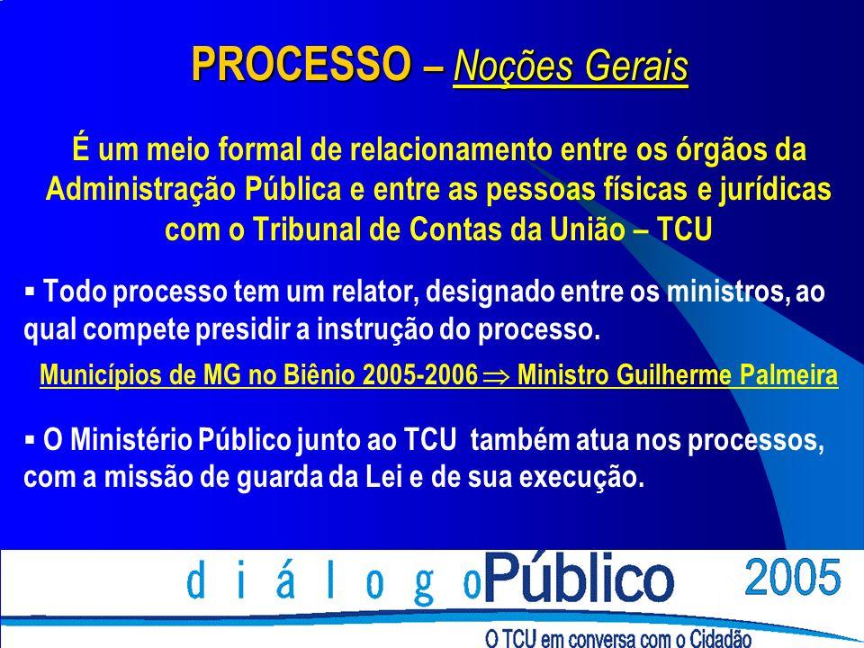 PROCESSO – Noções Gerais É um meio formal de relacionamento entre os órgãos da Administração Pública e entre as pessoas físicas e jurídicas com o Trib