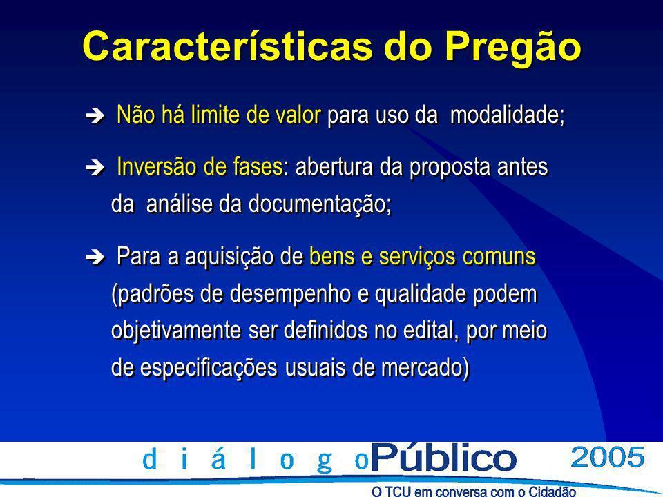 Pregão Nas licitações para aquisição de bens e serviços comuns será obrigatória a modalidade pregão.