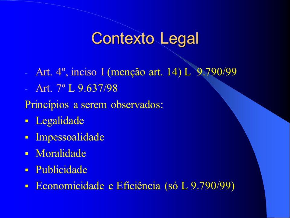 Contexto Legal Art.27 da IN/STN nº 01/97: ( Cfe.