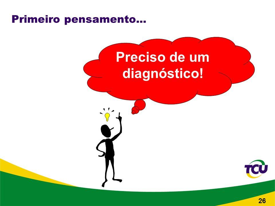Primeiro pensamento... Preciso de um diagnóstico! 26