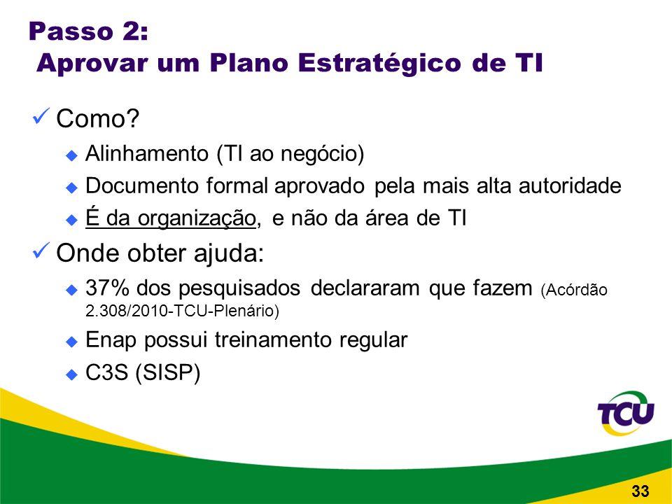 Passo 2: Aprovar um Plano Estratégico de TI Como.