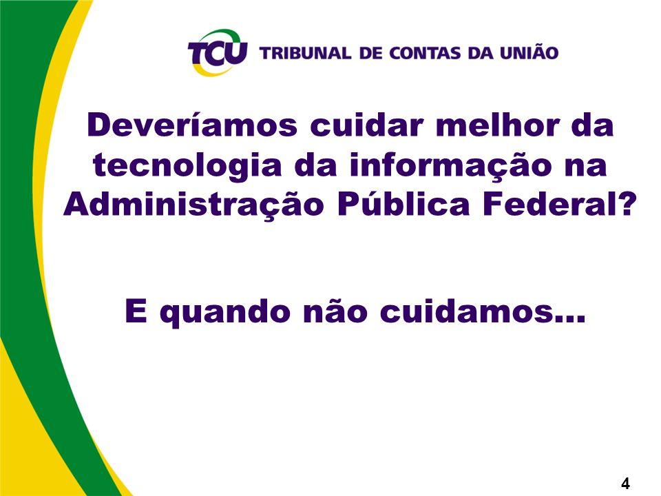 Deveríamos cuidar melhor da tecnologia da informação na Administração Pública Federal.