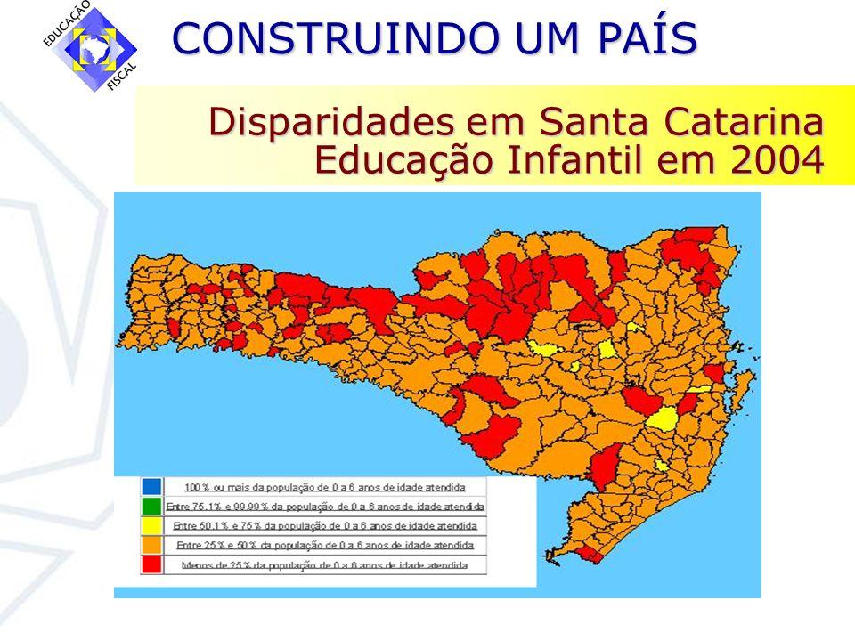 CONSTRUINDO UM PAÍS CONSTRUINDO UM PAÍS Disparidades em Santa Catarina Educação Infantil em 2004