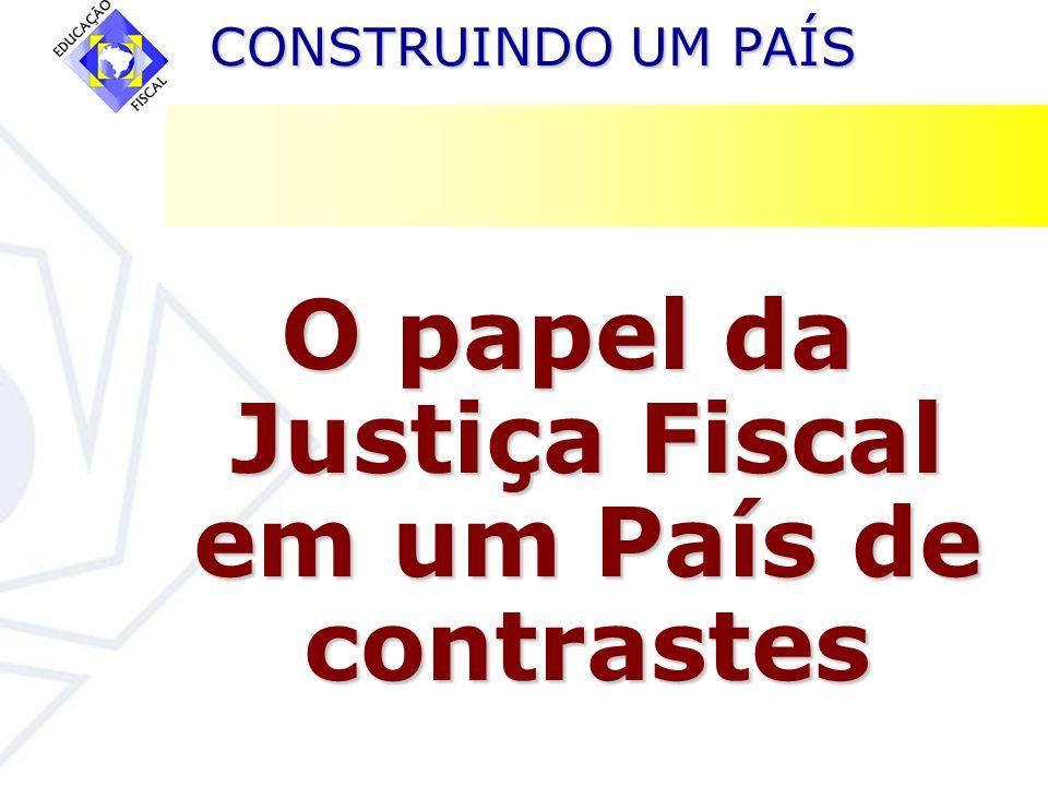 CONSTRUINDO UM PAÍS CONSTRUINDO UM PAÍS O papel da Justiça Fiscal em um País de contrastes